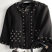 Одежда handmade. Livemaster - original item Copy of Suit black with rivets. Handmade.