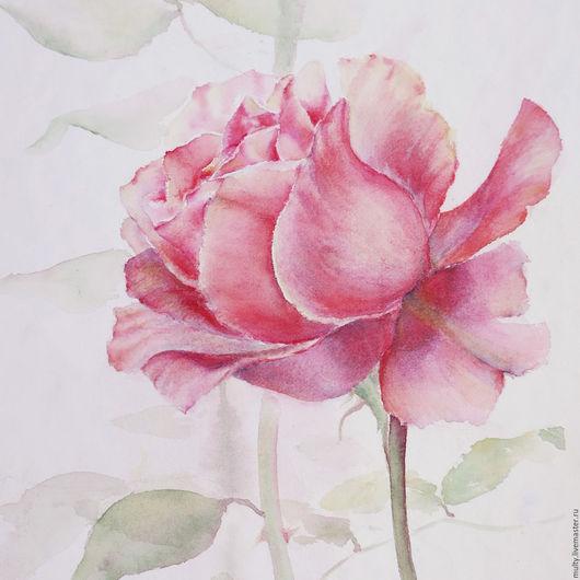 Картины цветов ручной работы. Ярмарка мастеров – ручная работа. Купить картину акварелью роза, акварельная картина, Hand made.