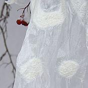 Аксессуары ручной работы. Ярмарка Мастеров - ручная работа Валяный шарф Снежность. Handmade.