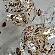 Посуда handmade. Livemaster - original item Cognac glasses with hand painted. Handmade.