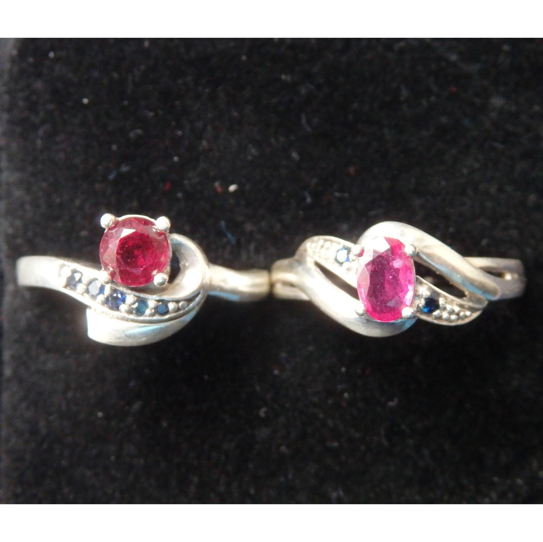 Кольцо с рубином и сапфирами на выбор, Кольца, Балашиха,  Фото №1