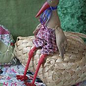 Куклы и игрушки ручной работы. Ярмарка Мастеров - ручная работа аист Тихон. Handmade.