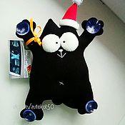 Мягкие игрушки ручной работы. Ярмарка Мастеров - ручная работа Черный кот Саймона. Handmade.