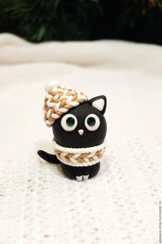 Кот из полимерной глины мастер класс с пошаговым фото