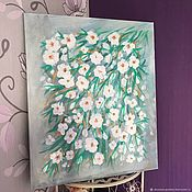 Pictures handmade. Livemaster - original item Painting with flowers abstract
