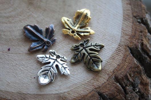Для украшений ручной работы. Ярмарка Мастеров - ручная работа. Купить Подвеска Листик,  бронза, медь, серебро, золото. Handmade.