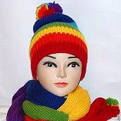 Аксессуары handmade. Livemaster - original item Set beanie and scarf