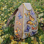 Сумки и аксессуары ручной работы. Ярмарка Мастеров - ручная работа Рюкзак текстильный Бабочки. Handmade.