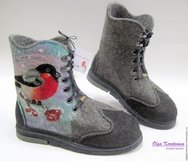 Купить Валяные ботинки