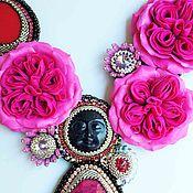 Украшения ручной работы. Ярмарка Мастеров - ручная работа Ночной лик розового сада. Handmade.