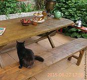 Для дома и интерьера ручной работы. Ярмарка Мастеров - ручная работа Стол и две лавки для сада. Handmade.