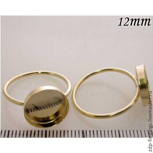 Для украшений ручной работы. Ярмарка Мастеров - ручная работа. Купить Основа Gold filled для кольца с кабошоном 12мм (R12GF). Handmade.