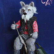 Куклы и игрушки ручной работы. Ярмарка Мастеров - ручная работа Волк - Лесник. Handmade.