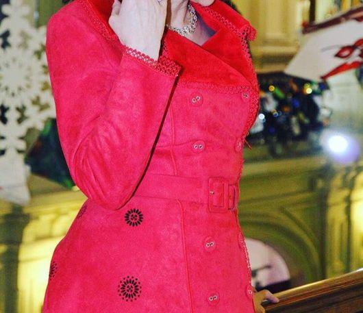 Верхняя одежда ручной работы. Ярмарка Мастеров - ручная работа. Купить Пальто! Пальто стильное!Пальто красное !. Handmade.