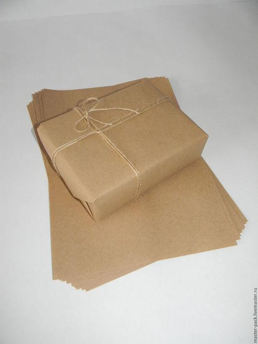 Упаковка ручной работы. Ярмарка Мастеров - ручная работа. Купить Крафт бумага 21x30 см (А4). Handmade. Коричневый