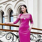 Одежда handmade. Livemaster - original item New - Jersey Dress with pockets - fuchsia. Handmade.
