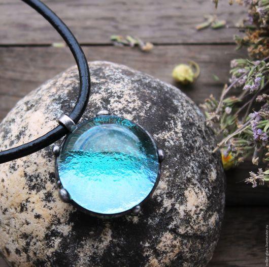 """Кулоны, подвески ручной работы. Ярмарка Мастеров - ручная работа. Купить Кулон """"H2O"""" стекло. Handmade. Комбинированный, стекло как вода"""