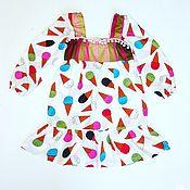 Работы для детей, ручной работы. Ярмарка Мастеров - ручная работа платье на девочку Мороженое. Handmade.
