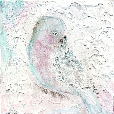 Картины и панно ручной работы. Ярмарка Мастеров - ручная работа Картина -пано на холсте, Радость сердца, Птица-сказка. Handmade.