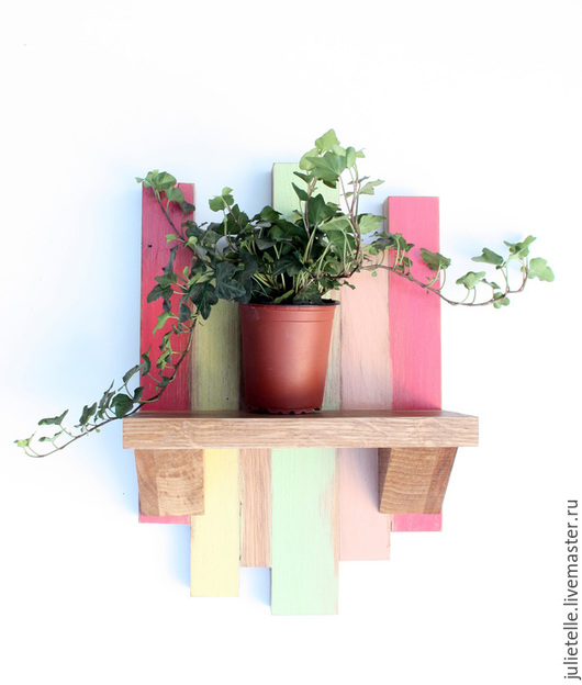 Мебель ручной работы. Ярмарка Мастеров - ручная работа. Купить Полочка для цветов. Handmade. Фуксия, украшение на стену, дизайн интерьера