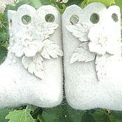 Обувь ручной работы. Ярмарка Мастеров - ручная работа белоснежные валенки-малютки. Handmade.