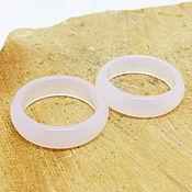 Украшения handmade. Livemaster - original item Pink chalcedony ring 18 p-R. Handmade.