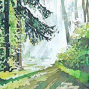 """Картины и панно ручной работы. Ярмарка Мастеров - ручная работа картина """"Утро в лесу"""". Handmade."""