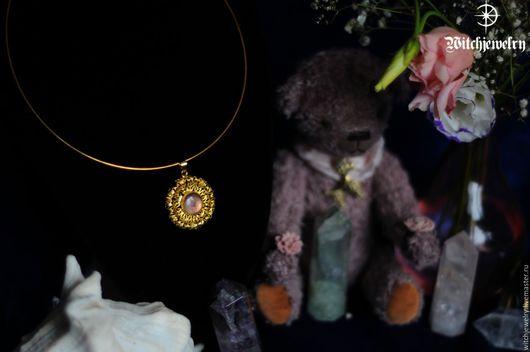 """Колье, бусы ручной работы. Ярмарка Мастеров - ручная работа. Купить Колье """"Золотой тюльпан"""". Handmade. Золотой, тюльпан, ведьма"""