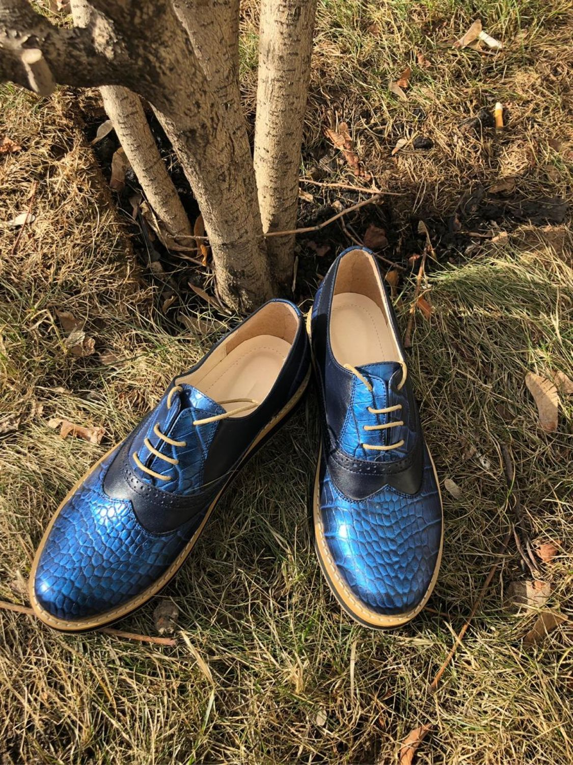 Oxford shoes blue reptile/blue, Oxfords, Moscow,  Фото №1