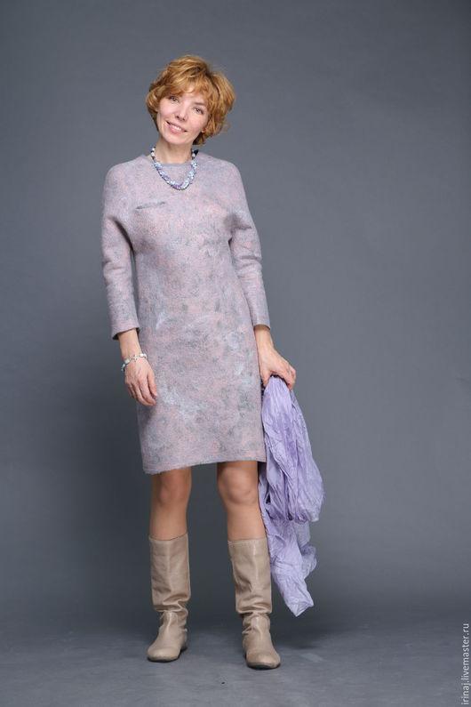 """Платья ручной работы. Ярмарка Мастеров - ручная работа. Купить двустороннее валяное  платье  """"Mint"""". Handmade. Платье, волокна шёлка"""