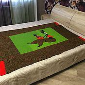 Сувениры и подарки handmade. Livemaster - original item On March 8, a Knitted blanket-bedspread