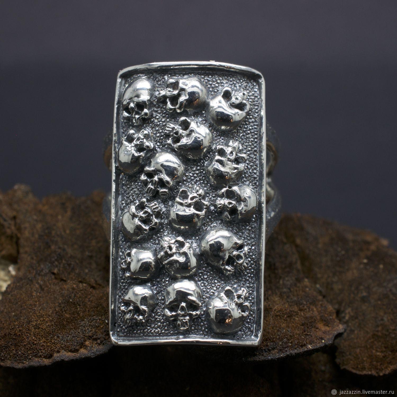 Rings handmade. Livemaster - handmade. Buy Skulls ring.Ring, flat