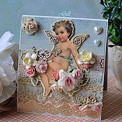 """Свадебный салон ручной работы. Ярмарка Мастеров - ручная работа Открытка """"Ангел, хранящий любовь... """". Handmade."""