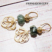 Украшения handmade. Livemaster - original item Earrings with green garnet