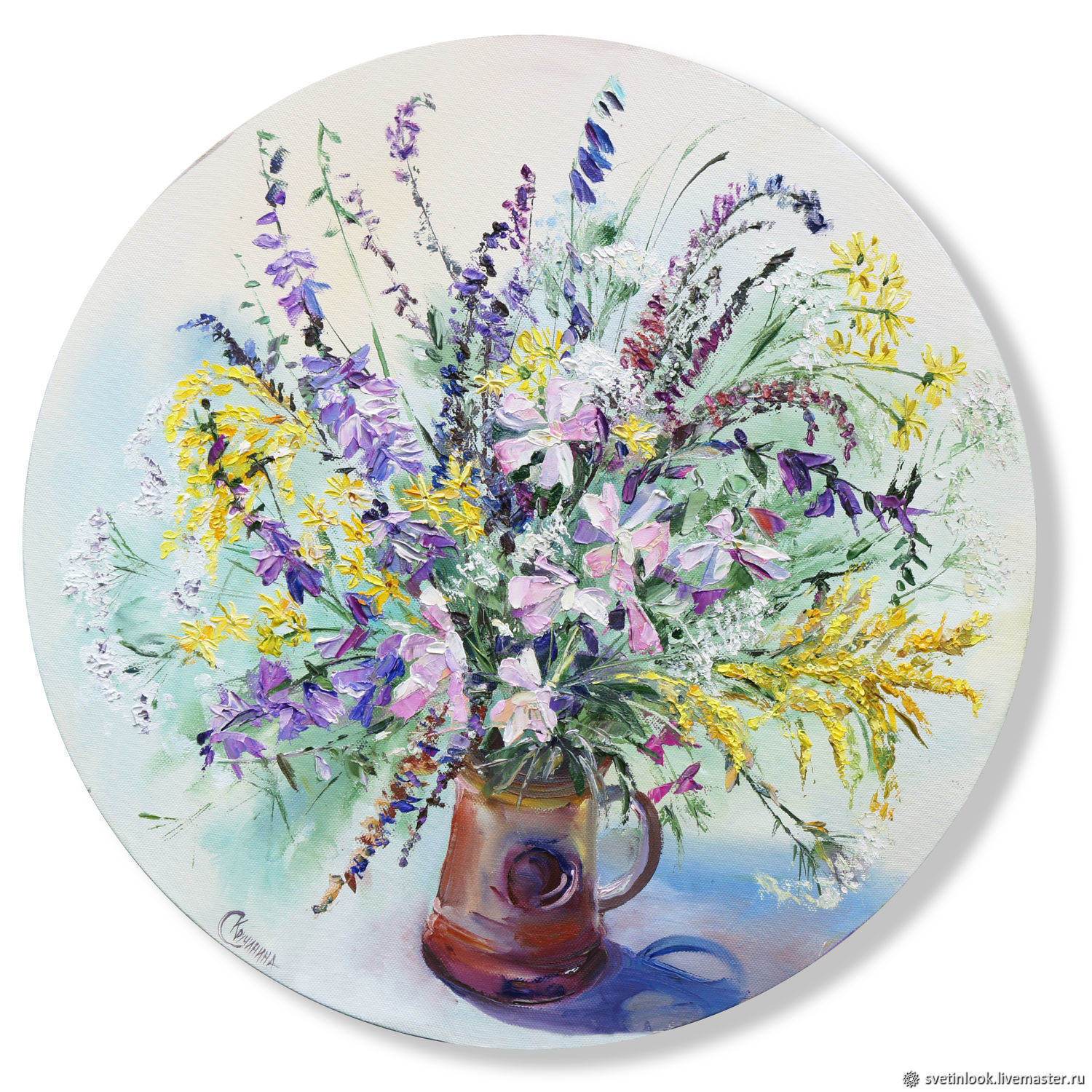 A bouquet of wild flowers. Oil painting, Pictures, Samara,  Фото №1