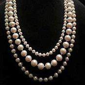 Украшения handmade. Livemaster - original item Pearl necklace of three strands of white pearls-