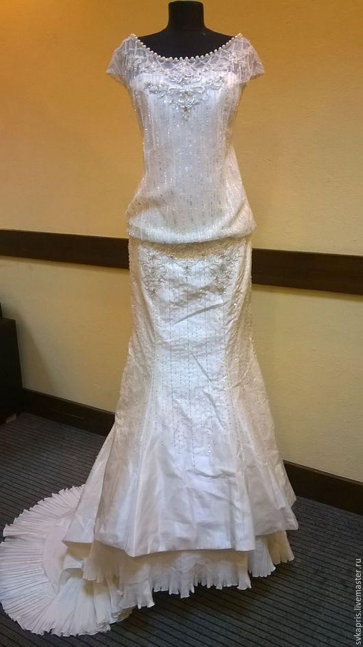 Одежда и аксессуары ручной работы. Ярмарка Мастеров - ручная работа. Купить Свадебное платье в стиле Гэтсби. Handmade. Бежевый