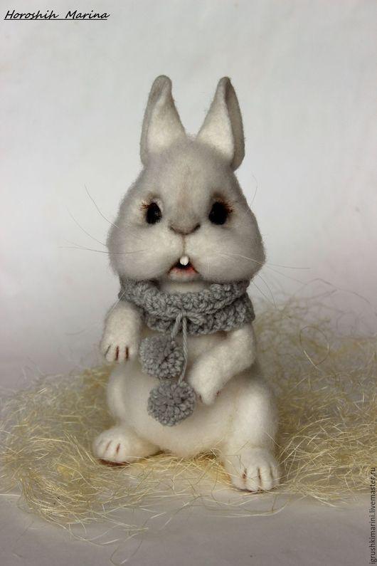 Игрушки животные, ручной работы. Ярмарка Мастеров - ручная работа. Купить кролик Крош. Handmade. Белый, игрушка в подарок