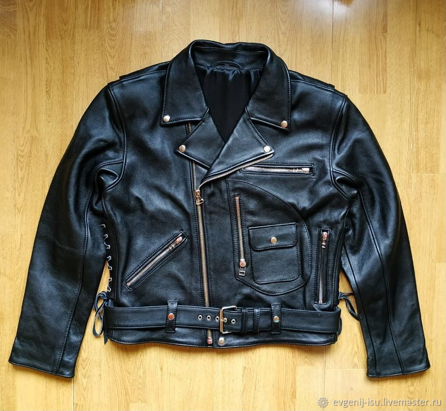 Black Leather Jackets, 'Terminator', Mens outerwear, Moscow,  Фото №1