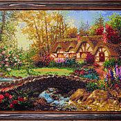 """Картины и панно ручной работы. Ярмарка Мастеров - ручная работа Алмазная вышивка """"Дом у моста"""" (готовая работа). Handmade."""