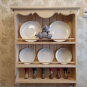 Полки ручной работы. Ярмарка Мастеров - ручная работа Модель 4 Полка для тарелок в стиле прованс. Handmade.