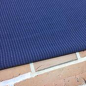 Материалы для творчества handmade. Livemaster - original item Dark blue striped jacquard. Handmade.