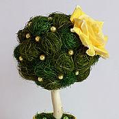 Цветы и флористика ручной работы. Ярмарка Мастеров - ручная работа мини-топиарий Весна. Handmade.