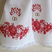 Свадебный салон ручной работы. Ярмарка Мастеров - ручная работа Рушник свадебный с вышивкой 1005. Handmade.