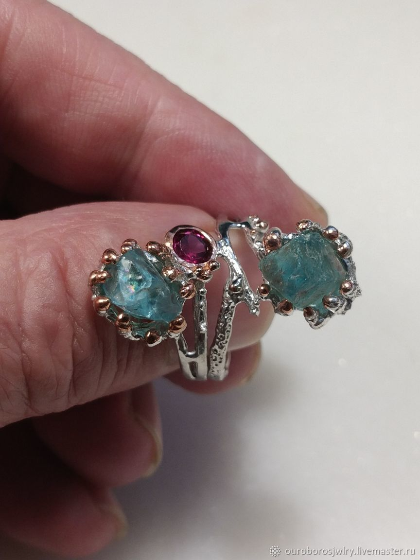 Silver ring with natural Apatite, Rings, Novosibirsk,  Фото №1