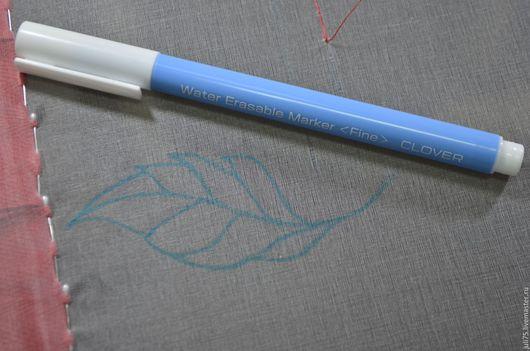 Вышивка ручной работы. Ярмарка Мастеров - ручная работа. Купить Маркер для переноса рисунка на ткань , Япония. Handmade. Голубой, пластик