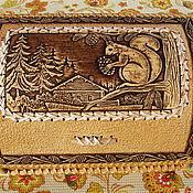 """Для дома и интерьера ручной работы. Ярмарка Мастеров - ручная работа Хлебница из бересты """"Бельчонок"""". Handmade."""