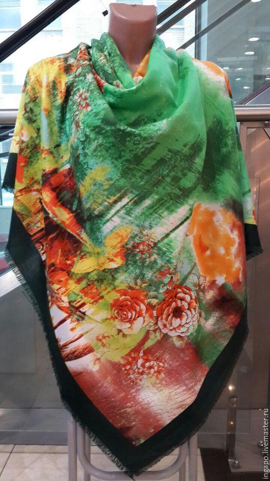 """Другие виды рукоделия ручной работы. Ярмарка Мастеров - ручная работа. Купить Платок """"Мальдивы"""". Handmade. Яркий платок, творчество"""