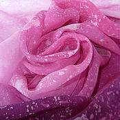 Аксессуары ручной работы. Ярмарка Мастеров - ручная работа Шелковый шарфик Турмалин розовый. Handmade.