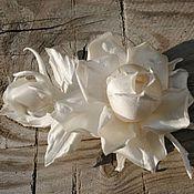 Свадебный салон ручной работы. Ярмарка Мастеров - ручная работа Воздушные розы для прически невесты. Handmade.
